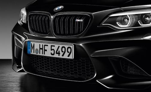 Front des BMW M2 Coupé Black Shadow