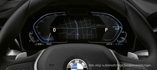 Virtual Cockpit des BMW 3ers